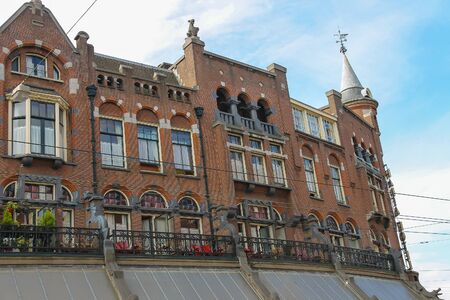 Amsterdam, the Netherlands -October 03, 2015: Old style brick building in historic city centre Editorial