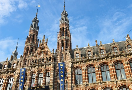 Amsterdam, the Netherlands -October 03, 2015: Shopping center Magna plaza in historic city centre Editorial