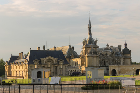 chantilly: Chantilly, France - July 09, 2012: Famous Chateau de Chantilly (Chantilly Castle, 1560) Editorial