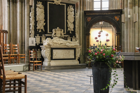 Utrecht, the Netherlands - February 13, 2016: Interior of St. Martins Cathedral (Domkerk)