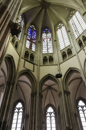 Utrecht, the Netherlands - February 13, 2016: Details of the interior of St. Martins Cathedral (Domkerk)