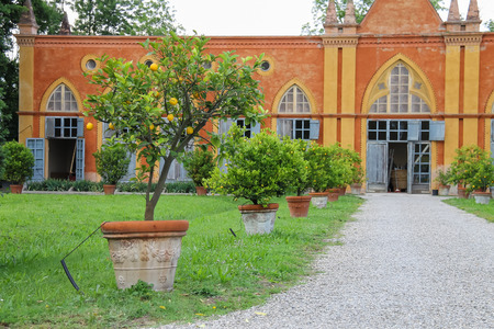Baroque palace and park of Villa Sorra. Castelfranco Emilia, Modena, Italy