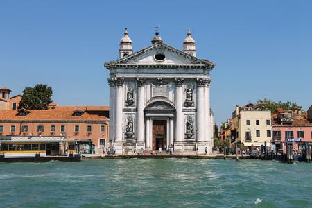 Venice, Italy - August 13, 2016: the Church of Santa Maria del Rosario (Gesuati). View from Giudecca Canal