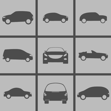 hatchback: Set of Icons on a theme Cars