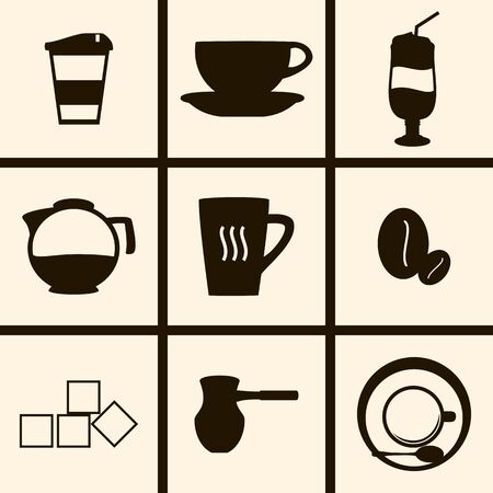 contemporary taste: Set of icons on a theme Coffee Illustration