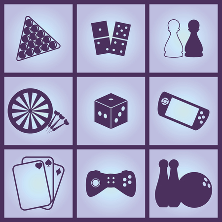 handheld device: Set of Icons on a theme Games