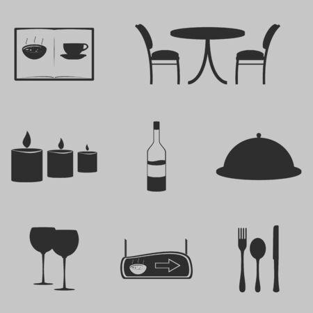 Conjunto de iconos sobre un tema Restourant Foto de archivo - 36044253
