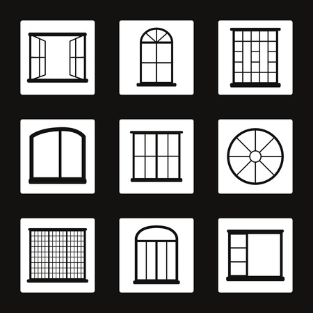 architectural styles: Set of icons on a theme Windows