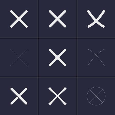 polls: Set of icons on a theme cross Illustration