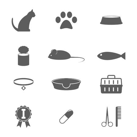 Cats icons Illustration