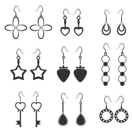 Ensemble d'icônes sur un thème boucles d'oreilles Banque d'images - 84615636