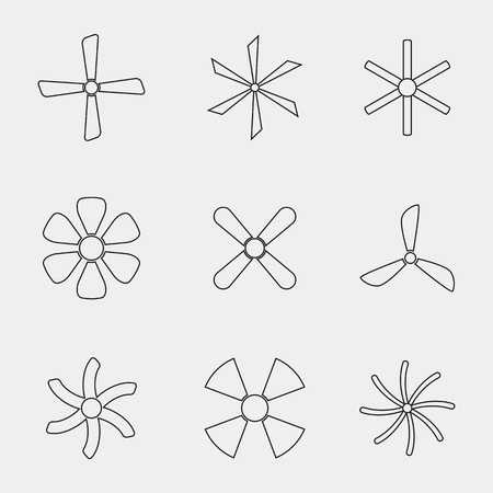 Set of icons on a theme fan Illustration