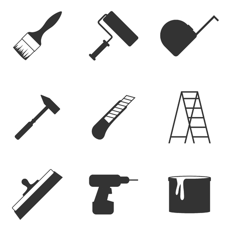 Set of isolated icons on a theme home repair