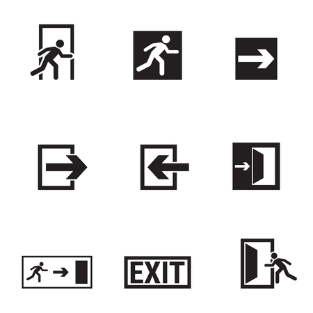Verzameling van geïsoleerde pictogrammen op een thema-uitgang