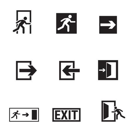 Verzameling van geïsoleerde pictogrammen op een thema-uitgang Stockfoto - 84615953