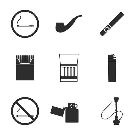 smoldering: Smoking icons Illustration