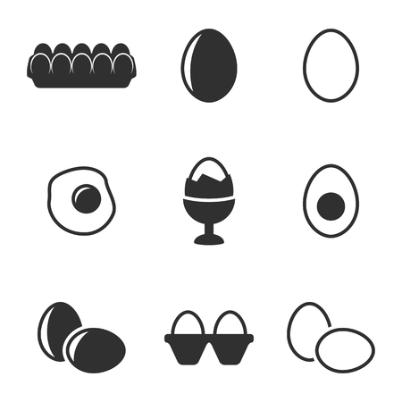 Set of isolated icons on a theme eggs