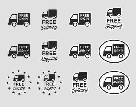 ensemble d & # 39 ; icônes isolées sur un thème livraison gratuite Vecteurs