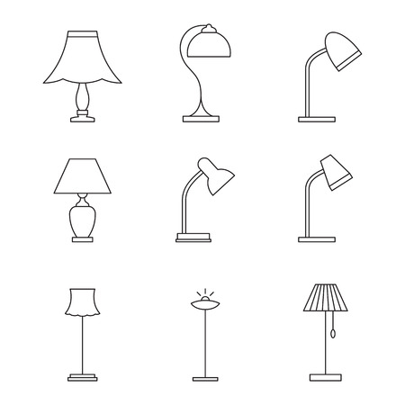 suspender: Light fixture linear icons: Lamps and lighting devices