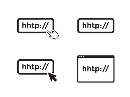 browser application icons black on a white background