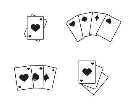preference: Game cards icons black on a white background
