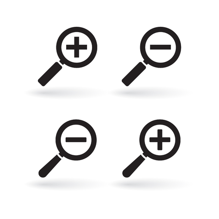 Magnify icon, zoom In and zoom out icons