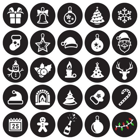25 Christmas Icons Ilustracja
