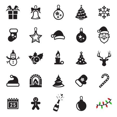 25 Christmas Icons Illustration