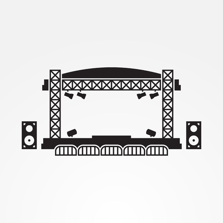 Outdoor stage vector icon Stock Photo