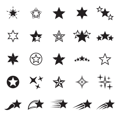 Star icons set.