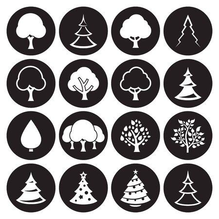 Tree icons set.