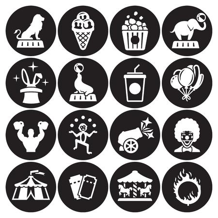 Circus icons collection set