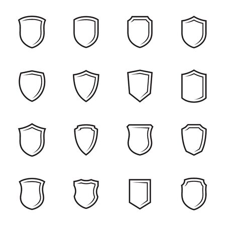Abstract Shield icons set