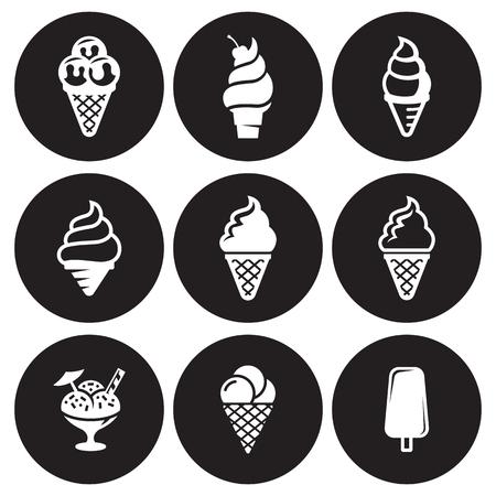 Ice cream icons Vector illustration. Illustration