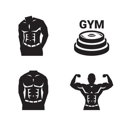 Bodybuilding gym logo Ilustracja