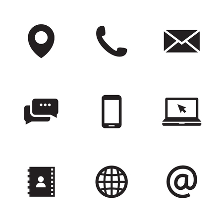 Contact us icons illustration
