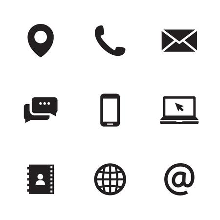 Skontaktuj się z nami ikony ilustracji Ilustracje wektorowe