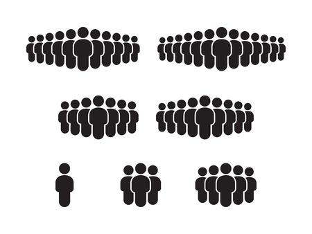 People Icon set illustration Ilustracja