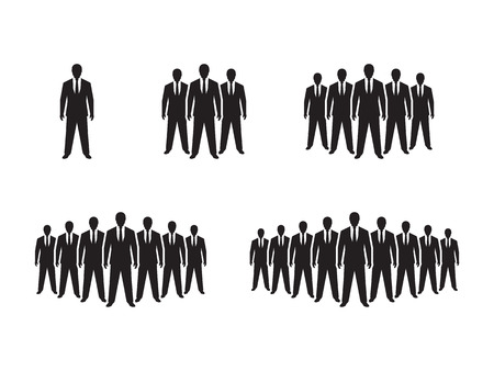 People Icon set illustration Illustration