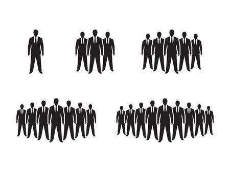 People Icon set illustration 矢量图像