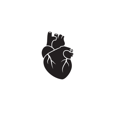 Heart icon. Black on a white background