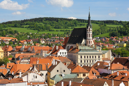 krumlov: Cesky Krumlov czech republic europe old town Stock Photo