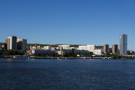 volga river: quay of Saratov view from Volga river