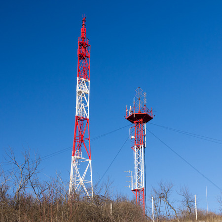 Cell Communication tower and blue sky winter