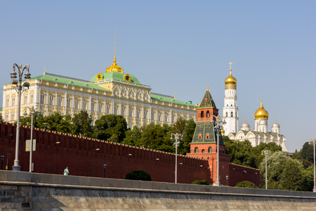 The Kremlin, view from river, Moscow.