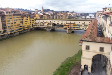 Ponte Vecchio over Arno river in Florence, Italy Zdjęcie Seryjne