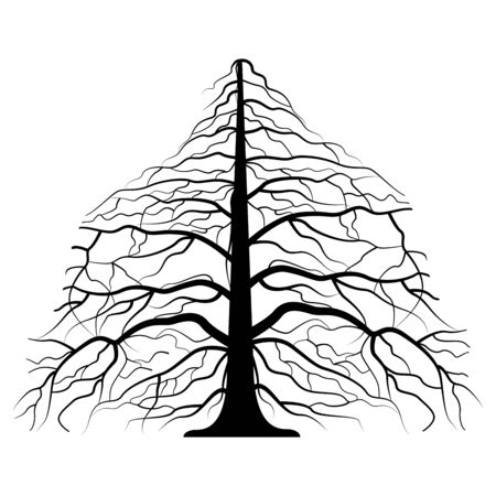vector drawing of the tree - detailed vector Stock Illustratie