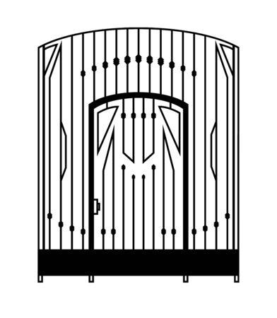 Gates shape isolated on white background.