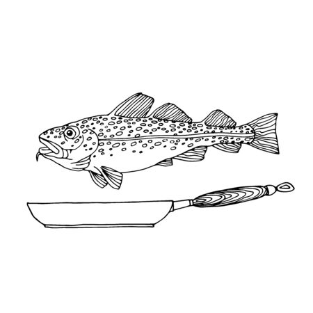 Atlantic spotted cod, commercial fish, sea predator