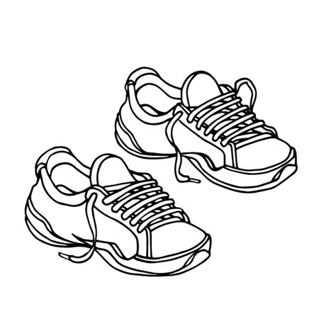 a pair of modern sneakers with laces